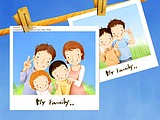 Lovely_illustration_of_Happy_family_photo_wallcoo_coms
