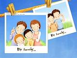 Lovely_illustration_of_Happy_family_photo_wallcoo_coms