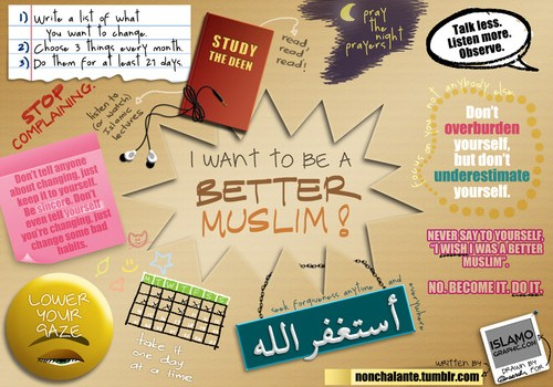 I want to be a better Muslim