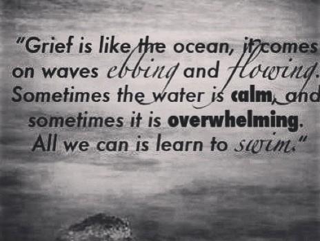 Swim on grieving
