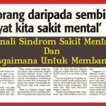 Kenali Sindrom Pesakit Mental